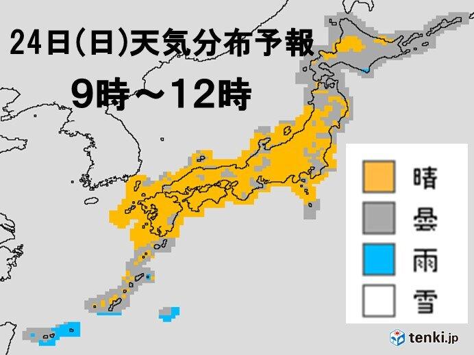 日曜日 関東や東北も晴れ間あり 気温7月並みも