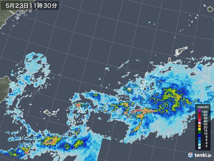 沖縄に梅雨前線の活発な雨雲 24日にかけ激しい雨注意