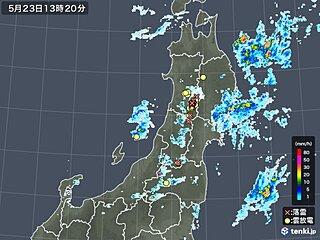 東北で雷雲発達中 落雷や突風、急な強い雨に注意