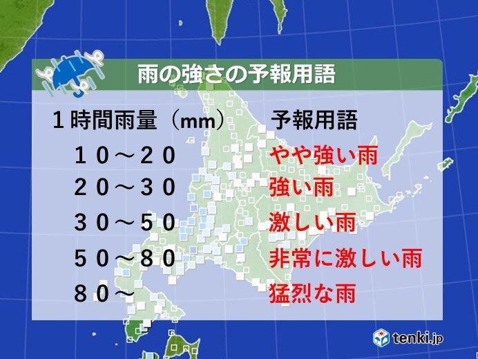 札幌でも数十年に1度 5月のやや強い雨