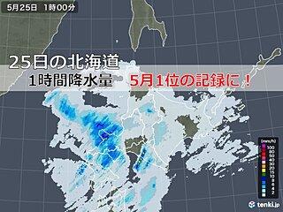 強くないけど一番強い? 北海道で5月1位の雨