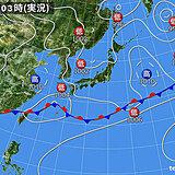 27日 東北付近は急な強い雨や雷雨 東海~九州は晴れ