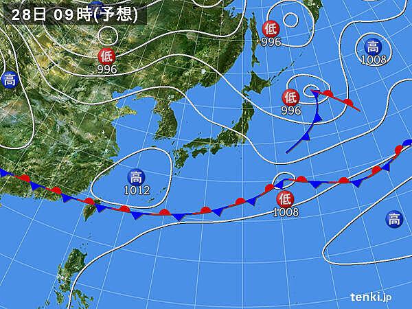 28日(木)~29日(金) 関東などにわか雨 沖縄は梅雨空