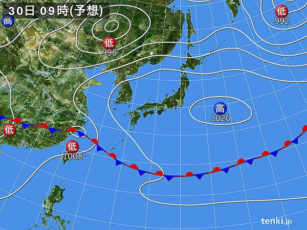 30日(土)~31日(日) 九州は雨 北海道は真夏の暑さに