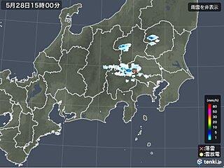 関東甲信 山沿いで雨雲や雷雲が発達中 平野部も雨に