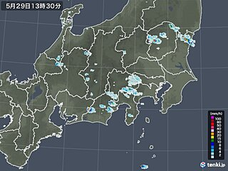 関東甲信や東海 青空一転 局地的に雨雲 夜にかけ急な雨や落雷注意