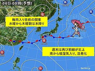 関東 水〜木曜は本降り 週末は雨強まる