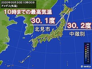 北海道で10時前に30度超 真夏の暑さ
