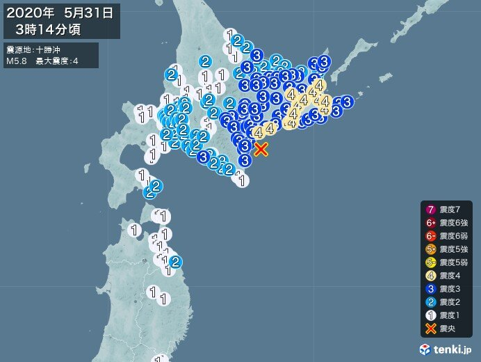 北海道で震度4の地震 津波の心配なし