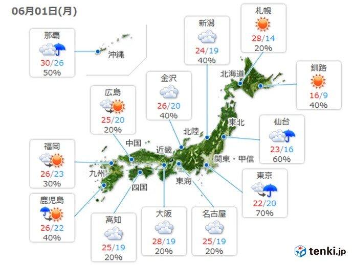 西ほどムシムシ 北海道は暑さ続く