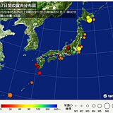 1週間の地震回数 ここ4日間で震度4が4回発生