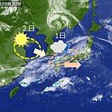 中国地方 きょう(1日)は折りたたみ傘、あす(2日)は日傘で外出を