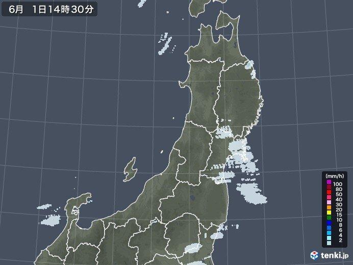 東北南部 昼過ぎにかけてにわか雨