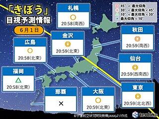 今夜は「きぼう(ISS)」が通過 北ほど観測のチャンス