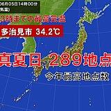 今年初の真夏日200地点超 岐阜県多治見市34.2℃ 猛暑日一歩手前