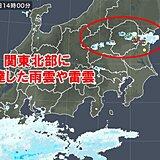 関東 山沿いで雷雲が発達 都内など平野部も雨雲わき始める