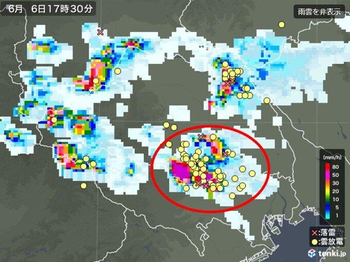 埼玉県で非常に激しい雨を観測 東京や埼玉に竜巻注意情報