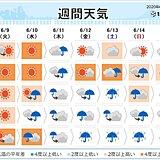週間天気 前線が北上 一斉に梅雨入りへ