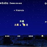 8日深夜~9日未明 月と木星と土星の天体ショー 晴れる所多い