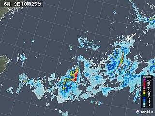 石垣島の24時間降水量 観測史上1位