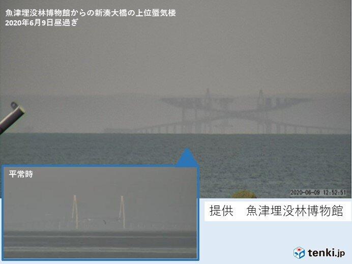 北陸 富山県魚津市で明瞭な蜃気楼出現