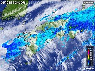 近畿地方梅雨入り 平年より1日早い