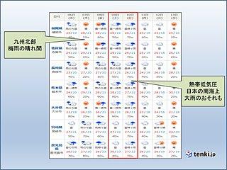 九州 この先の天気 週末は大雨の恐れ