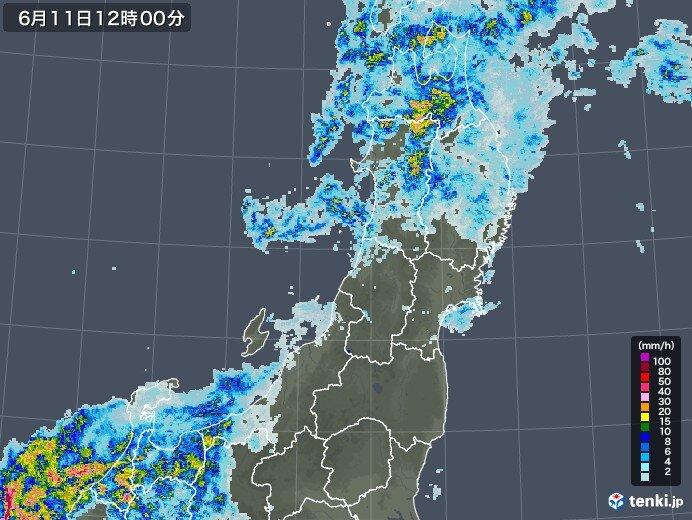 東北北部も昼過ぎにかけて激しい雨