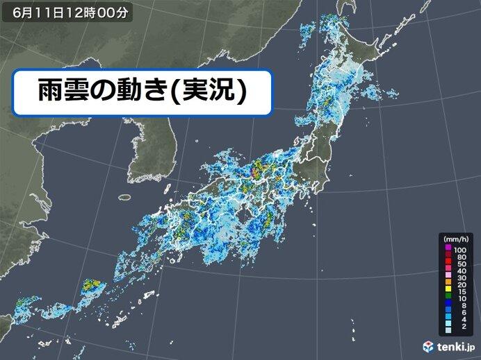 西はすでに大雨 発達した雨雲は東へ