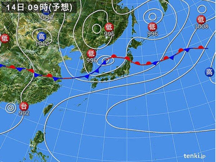 週末 西・東日本は大雨に