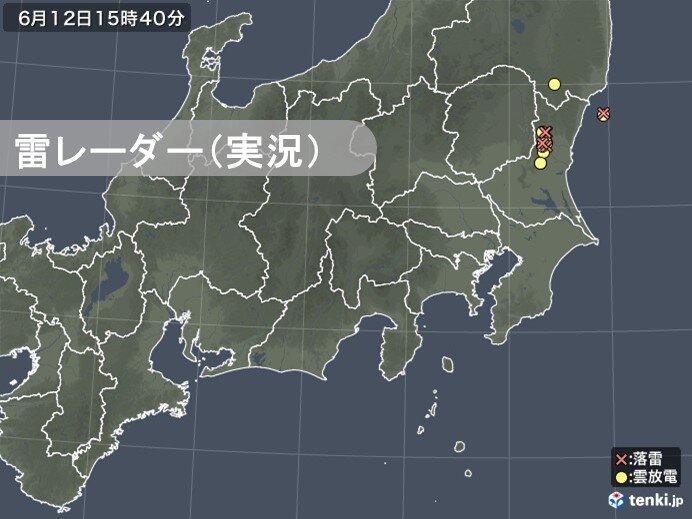 関東 局地的に雲が発達 茨城県で激しい雨を観測