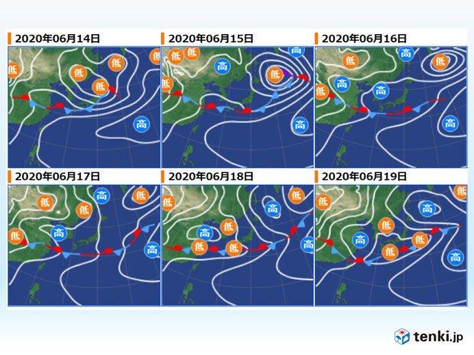 来週 気温の変化大きい 梅雨寒でヒンヤリする所も