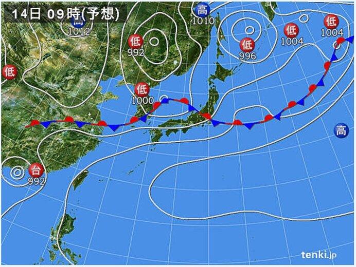 土日は日本海側を中心に大雨の恐れ