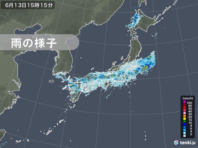 13日(土) 梅雨前線の活動活発
