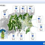 関東 金曜日は梅雨寒に 最高気温10度ほど下がる
