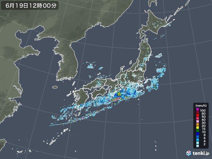 西日本雨のピーク越える 近畿~関東は夕方まで土砂災害注意