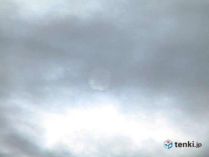 札幌でも部分日食始まる_画像