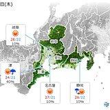 東海 7日は早くも梅雨の晴れ間