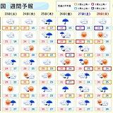 週間 木曜から日本海側中心に大雨か 日ごとに蒸し暑く