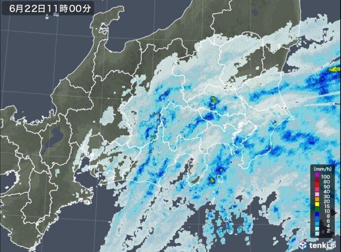 関東 本降りの雨で梅雨寒 帰宅時も雨具が必要に