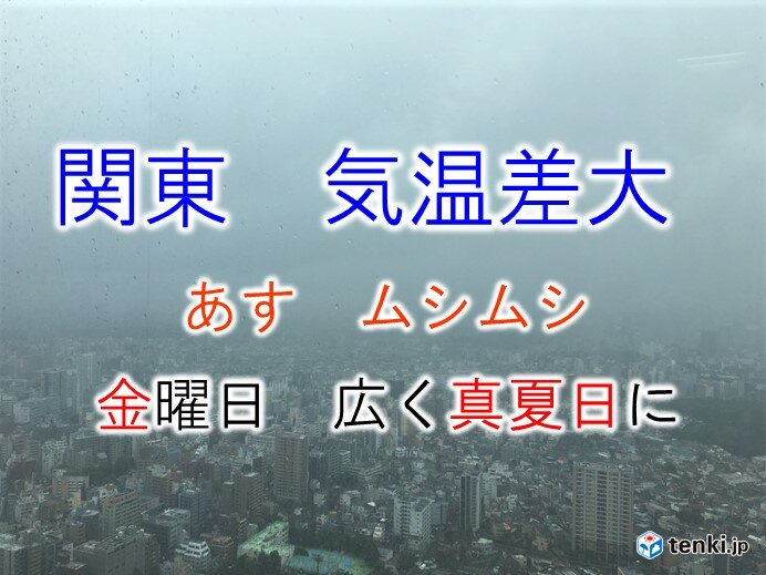 関東 気温乱高下 その差約10度 猛暑日に迫る暑さも