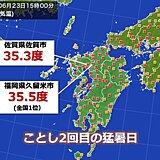 福岡と佐賀 ことし2回目の猛暑日