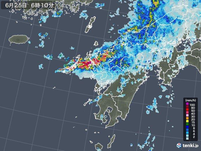 長崎県では記録的な雨に