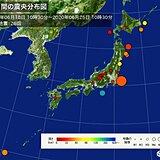 ここ1週間の地震回数 震度3以上は 3回発生