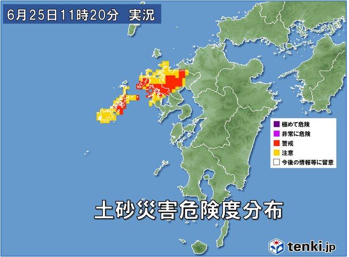 長崎・佐賀で大雨 あすにかけて線状降水帯の発生に警戒
