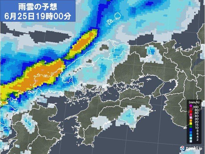 25日 山口県と島根県を中心に激しい雨のおそれ