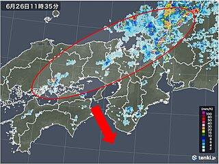 関西 梅雨前線が南下中 天気の急変に注意を