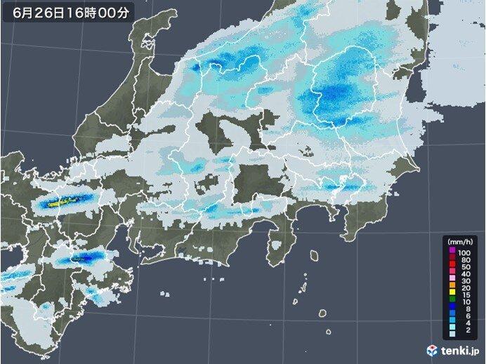 このあとも雨雲広がる 東京都心でも夕方から雨