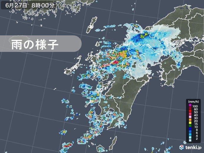長崎や福岡で猛烈な雨 佐世保では72時間雨量400ミリ超 観測史上1位