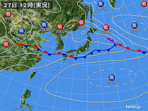 梅雨前線の活動が活発 九州で発達した雨雲南下